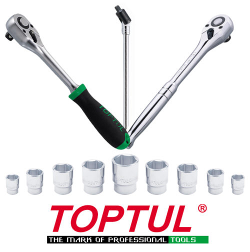 TOPTUL Sockets, Handles and Sets
